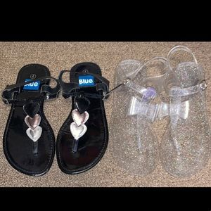 2 Pairs of Girls Sandals Size 4